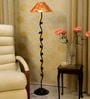 Red & Gold Poly Cotton Floor Lamp by Tu Casa