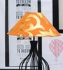 Tu Casa Orange & Golden Poly Cotton Lamp Shade