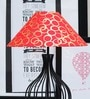 Tu Casa Red & Golden Poly Cotton Lamp Shade