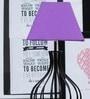 Tu Casa Purple Poly Cotton Square Lamp Shade