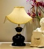 Table Lamp With Designer Shade- Golden Shade by Tu Casa