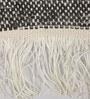 Black Wool 90 x 63 Inch Geometric Carpet by Tulsiram Rugs