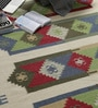 Multicolour Wool 90 x 63 Inch Ethnic Carpet by Tulsiram Rugs