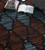Multicolour Wool 90 x 63 Inch Geometric Carpet by Tulsiram Rugs
