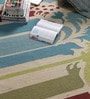 Multicolour Wool 90 x 63 Inch Nature & Floral Carpet by Tulsiram Rugs