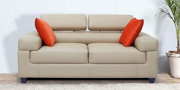Two Seater Sofa in Cream Colour by Vittoria at pepperfry