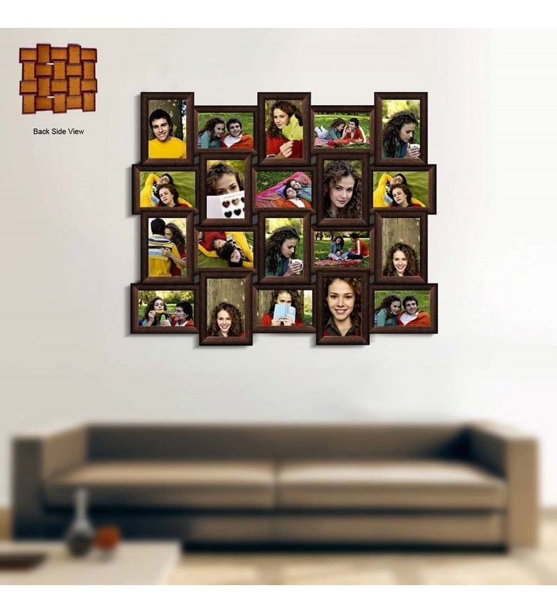 Buy Snap Galaxy Brown Synthetic Wood Collage Photo Frame Online ...