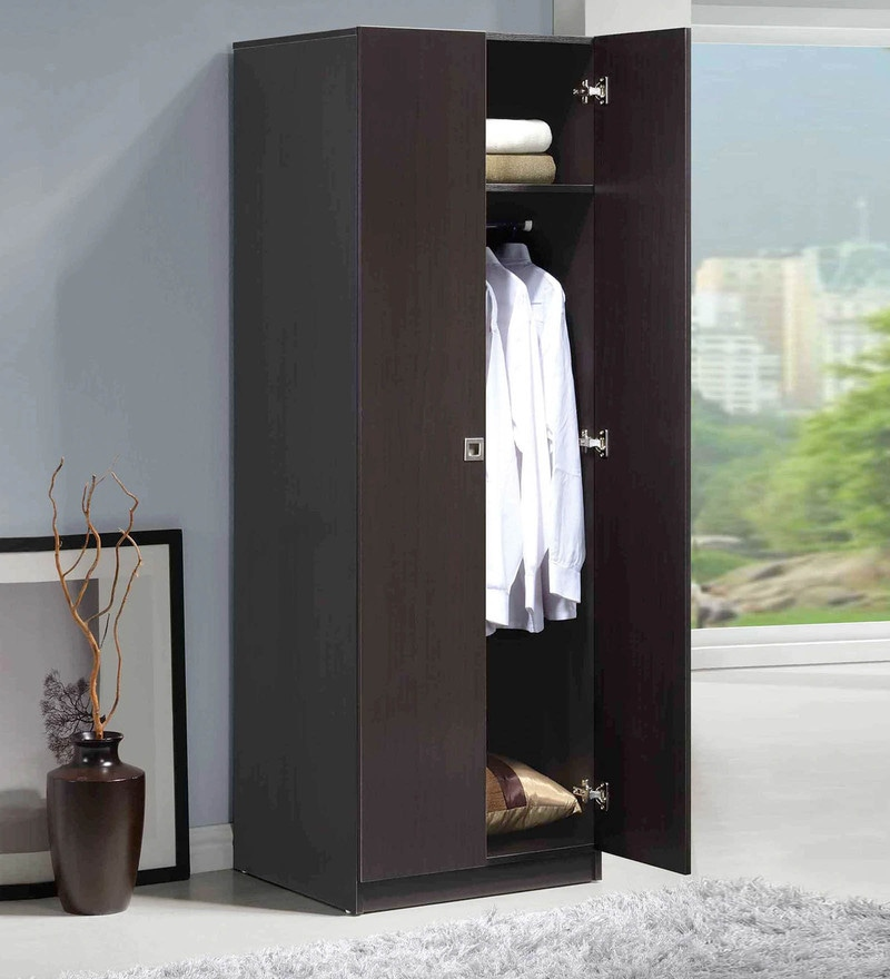 Two Door Wardrobe in Espresso Finish by Evergreen
