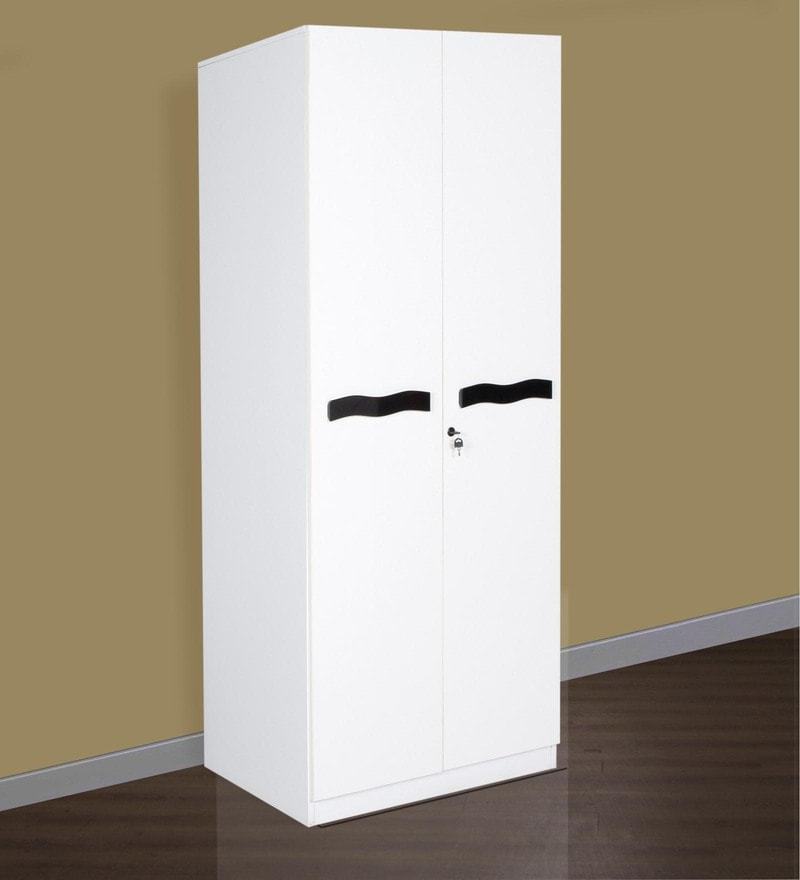 Paris Two Door Wardrobe in White Finish by Parin & Buy Two Door Carcass with 6mm Groove Shutter with RH Premium ... pezcame.com