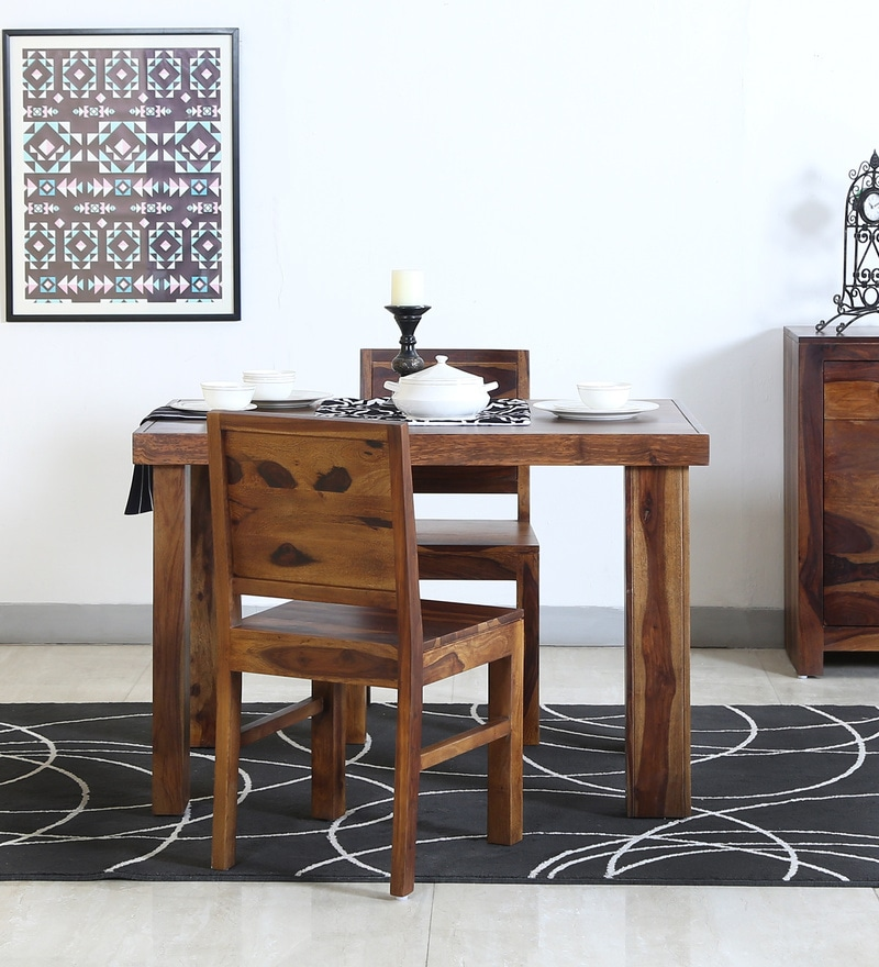 Acropolis Two Seater Dining Set in Provincial Teak Finish by Woodsworth