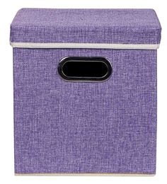 Uberlyfe Cardboard 25 L Purple Storage Boxes