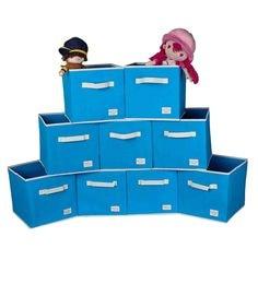 Uberlyfe Cubies Cardboard 20 L Light Blue Storage Boxes - Set Of 9