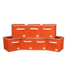 Uberlyfe Cubies Cardboard 20 L Orange Storage Boxes - Set Of 7