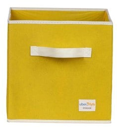 Uberlyfe Cubies Cardboard 20 L Yellow Storage Box
