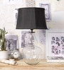 Black Cotton Table Lamp by Ujjala