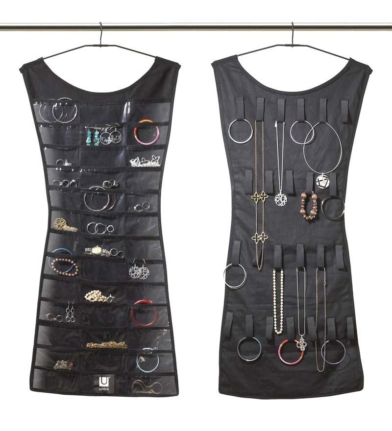 Plastic Black Little Dress Jewellery Organiser by Umbra