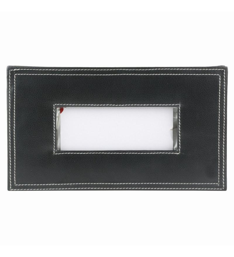 Umda Faux Leather Tissue Holder