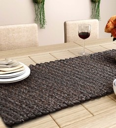 Unravel India Brown Sabai Grass Table Runner