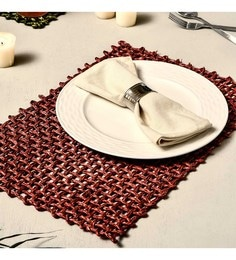 Unravel India Jali Red Sabai Grass Placemats - Set Of 2