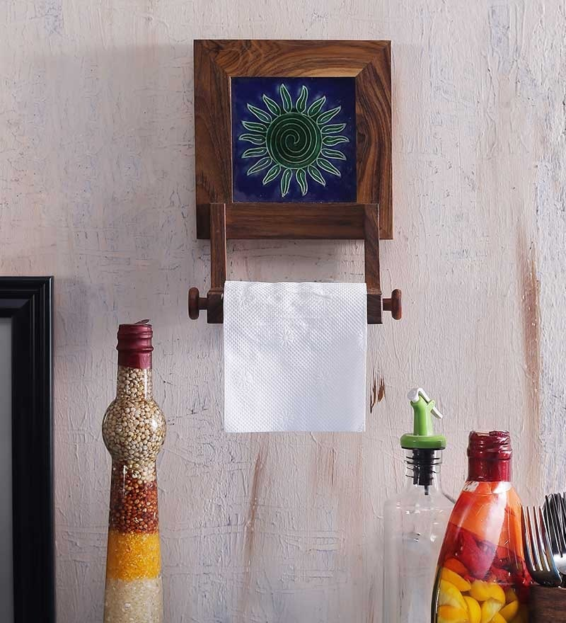 Buy Unravel India Wooden Tissue Paper Roll Holder Online