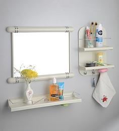 236 Options In Bathroom Shelves Upasana Ivory Plastic Cabinet Set Of 3