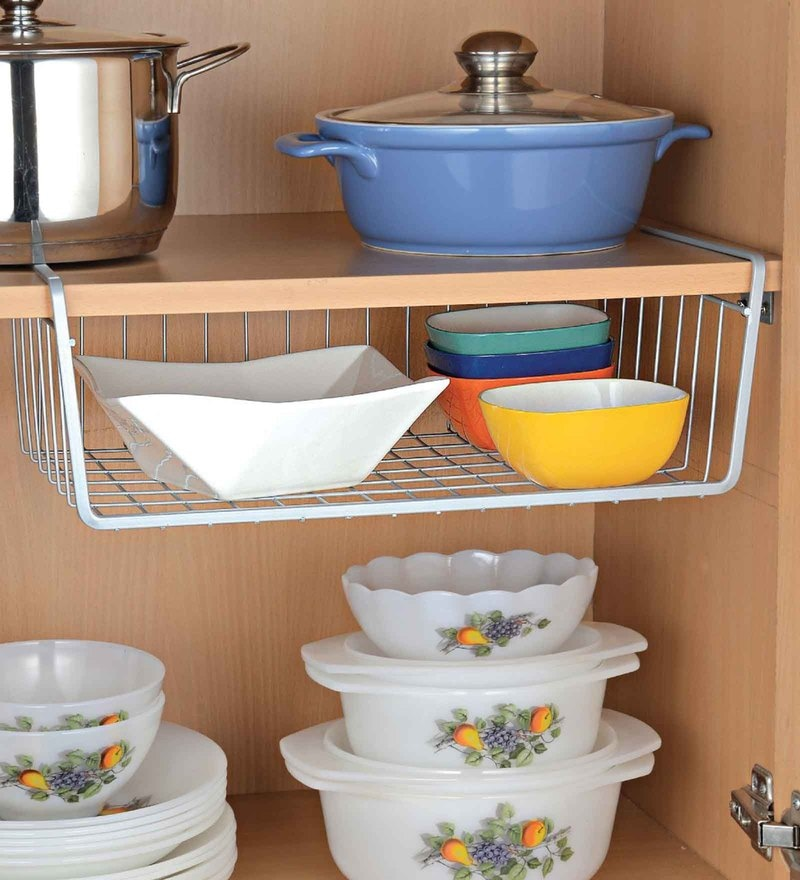 Upasana Large Mild Steel Undershelf Basket - Set of 3