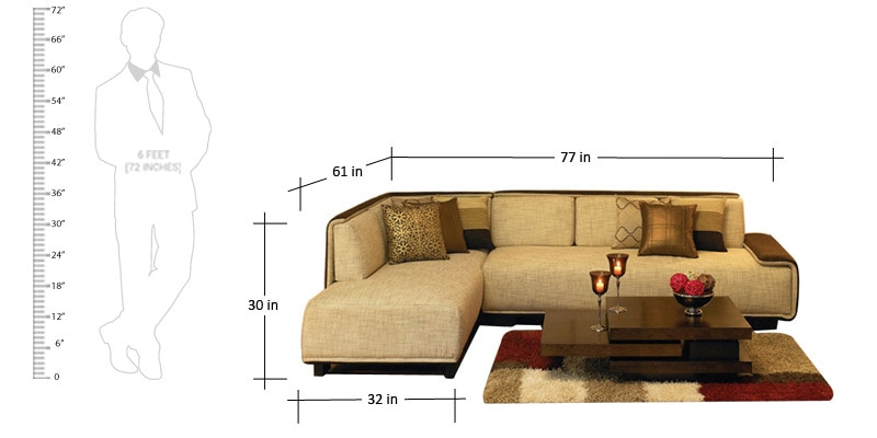 Buy La Glam Sofa Three Seater 1 Lounger By Urban Living Online Sofa Sectionals Sofas
