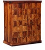 Reno Large Bar Cabinet in Honey Oak Finish by Woodsworth