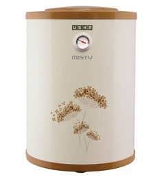 Usha Misty Storage Water Heater, Ivory Gold, 15 Litres
