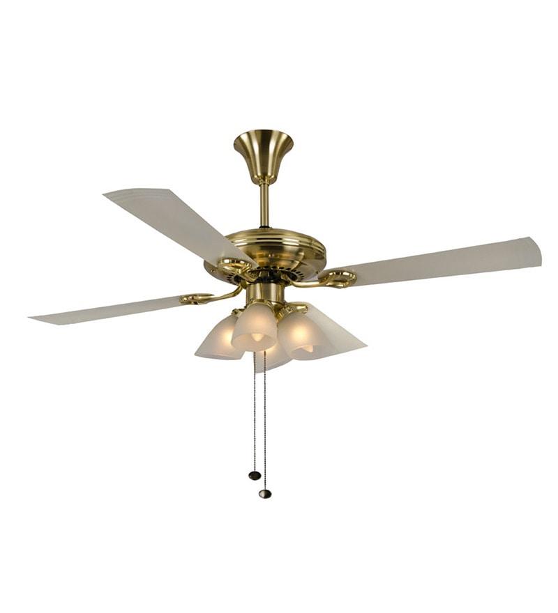 Buy usha fontana lotus black chrome ceiling fan with light online usha fontana lotus gold ivory ceiling fan with light aloadofball Gallery