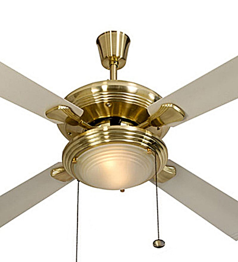 Buy Usha Fontana One Gold Ivory Ceiling Fan With Light