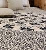 Uttam Bell Elephant Batik Print Black Cotton 90 x 83 Inch Bedsheet