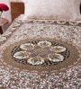 Uttam Indian Ethnic Black Cotton 84 x 54 Inch Bed Sheet