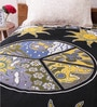 Uttam Black Cotton Nature & Florals 84 x 54 Inch Bedsheet