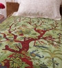 Uttam Green Cotton Nature & Florals 84 x 54 Inch Bed Sheet