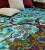 Uttam Tie-Dye Tree of Life Print Blue Cotton 90 x 83 Inch Bedsheet