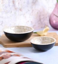 Vareesha Sea Shells Serving Bowls - Set Of 2
