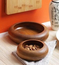 Vareesha Sheesham Wood Round Serving Bowls - Set Of 2