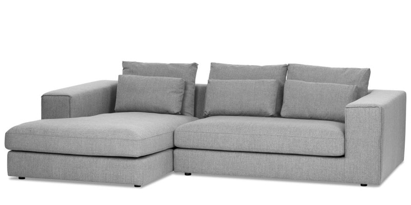 Buy Vavery L Shape Sofa In Light Grey Colour By Madesos Online