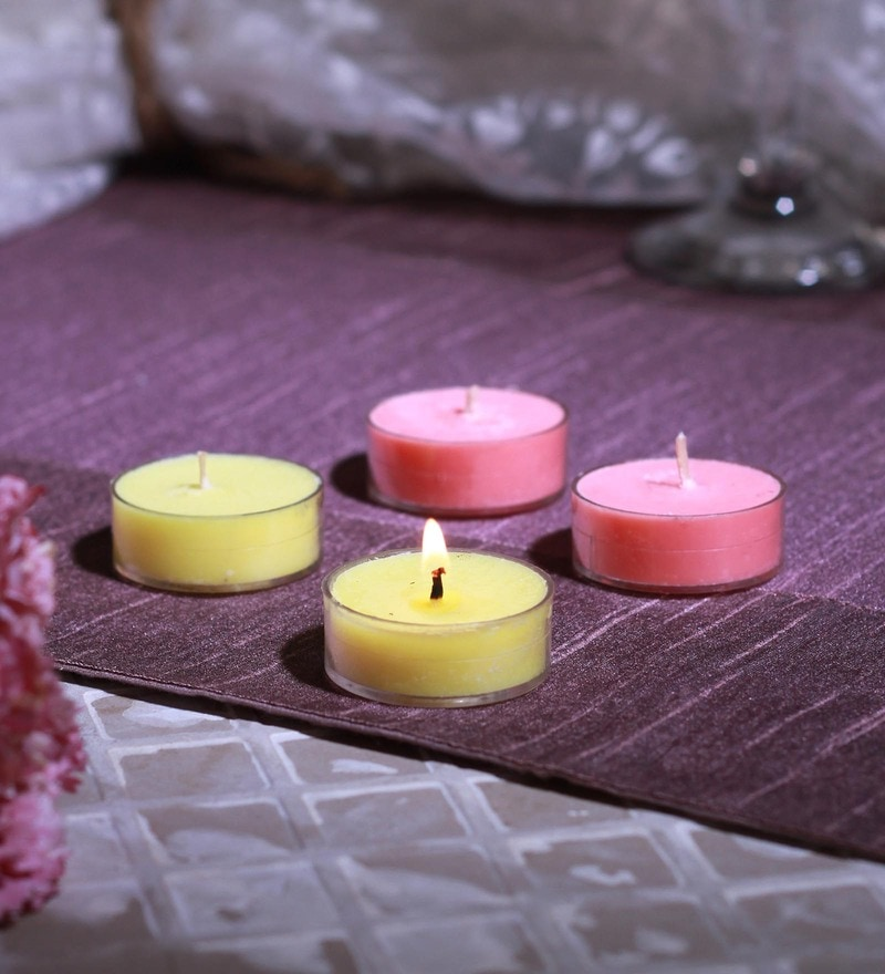 Vanilla & Apple Cinnamon Scented Tea Light Set of 4 by Aroma India