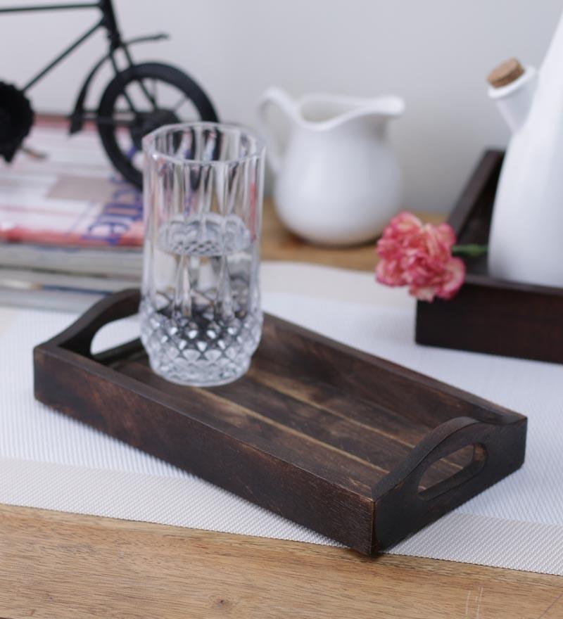 VarEesha Handpainted Small Wooden Tray