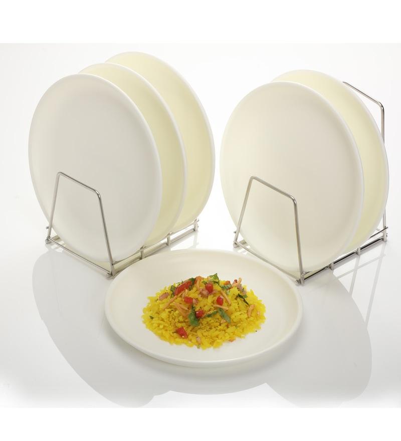 Varmora Round Yellow Dinner Plates - Set of 6