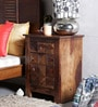 Reno Bedside Table in Provincial Teak Finish by Woodsworth
