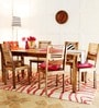 Oregon Six Seater Dining Set in Natural Sheesham Wood Finish by Woodsworth
