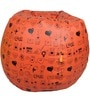 Printed Filled Bean Bag in Red Colour by Orka