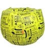 Printed Bean Bag with Beans in Yellow Colour by Orka