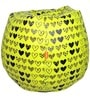 Printed Filled Bean Bag in Yellow Colour by Orka