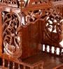 Zahab Brown Wooden Elephant Temple
