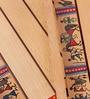 VarEesha Beige Wooden Warli Tray Set
