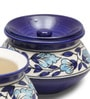 VarEesha Blue Handi 200 ML Handmade Pot - Set of 3